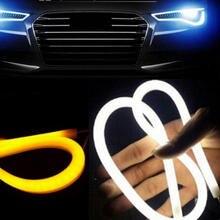 45 см универсальная гибкая дневная ходовая лампа Поворотная Светодиодная лента автомобильные аксессуары тормозные боковые фары для авто
