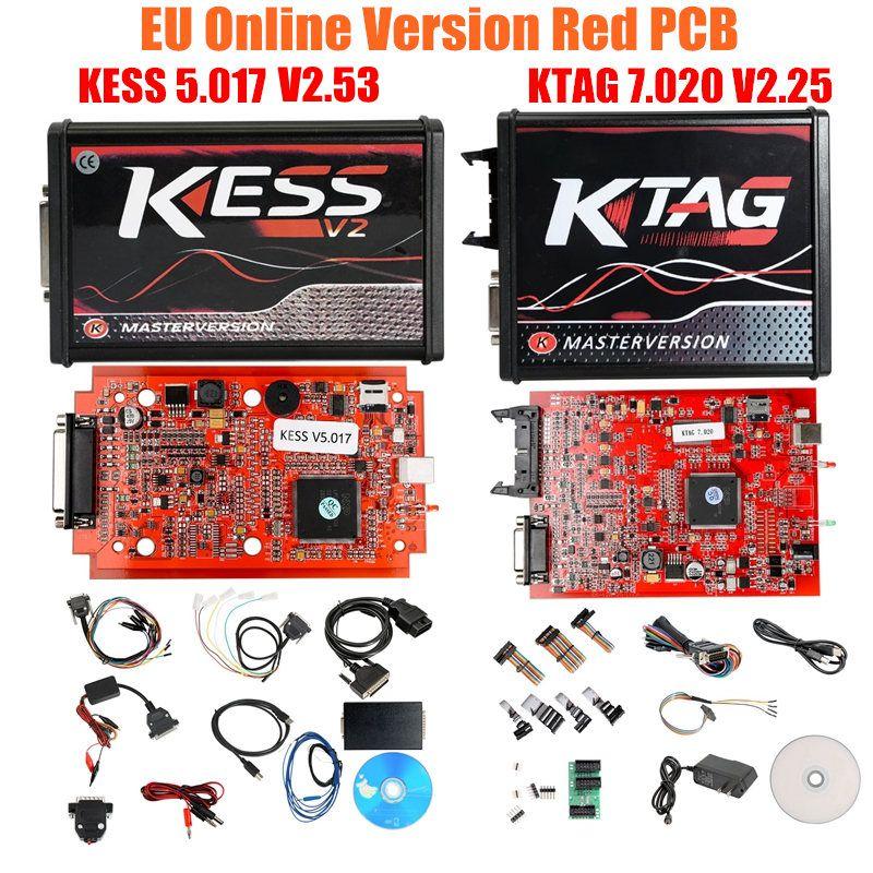 Newest Master KESS V2.53 V5.017 K tag V7.020 with LED BDM Frame BDM100 FGTECH V54 0475 0386 K Tag ECU Chip Gifts - 5