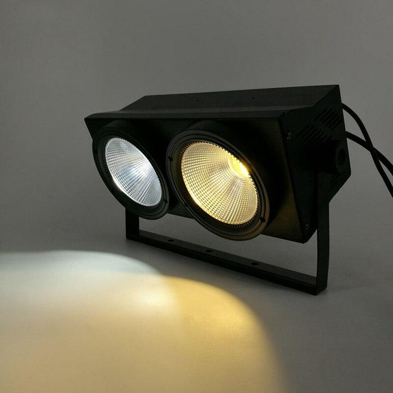 2 шт., 200 Вт, светодиодный светильник COB для мытья аудитории, 2eye 2x100 Вт, прожектор, сценический светильник светодиодный, матричный светильник,