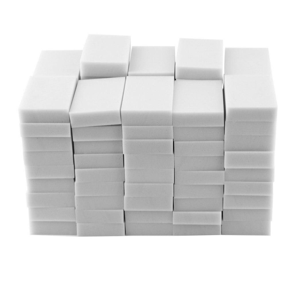 100 шт. 100x60x20 мм волшебная губка очиститель супер дезактивация ластик меламиновая кухня, ванная, офис инструмент для очистки