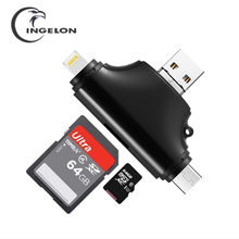 Ingelon sd card reader usb kaartlezer all in one cardreader micro sd to Usb 3.0 Type C Naar Sd Micro Sd Tf Adapter Voor Laptop Accessoires Otg Smart Memory Sd cardreader Voor Iphone laptop accessories sd card adapter(China)