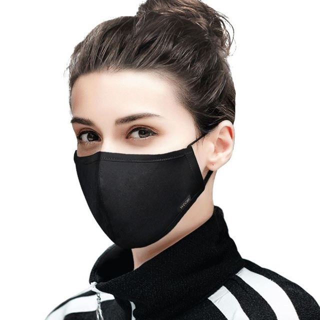 Kpop Cotton Black Mask mouth face Mask Anti PM2.5 dust Mouth Mask with 2pcs Activated Carbon Filter korean Mask Fabric Face Mask 4