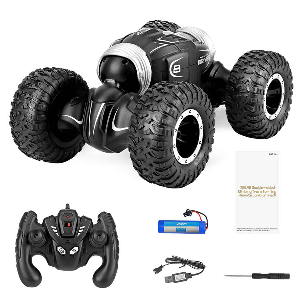JJRC Q70 RC Car 2.4Ghz 1:16 RC Stunt Car 4WD 15km/h Double-sided Fip Deformation Climbing RC Monster Rock Crawler Car Toy Gifts