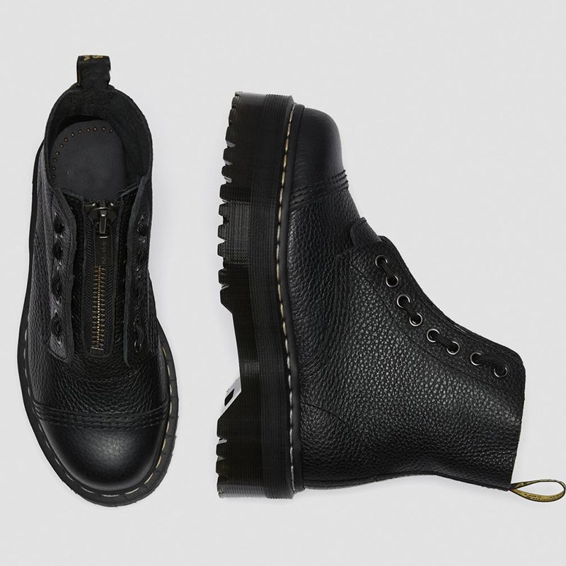 Leather Boots Martens Size34 44 Chunky Motorcycle Boots for Women Autumn 2020 Fashion Round Toe Combat Boots Ladies Shoes