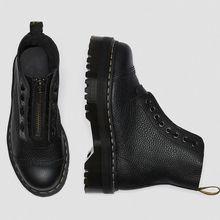 Leder Stiefel Martens Size34-44 Chunky Motorrad Stiefel für Frauen Herbst 2020 Mode Runde Kappe Kampf Stiefel Damen Schuhe