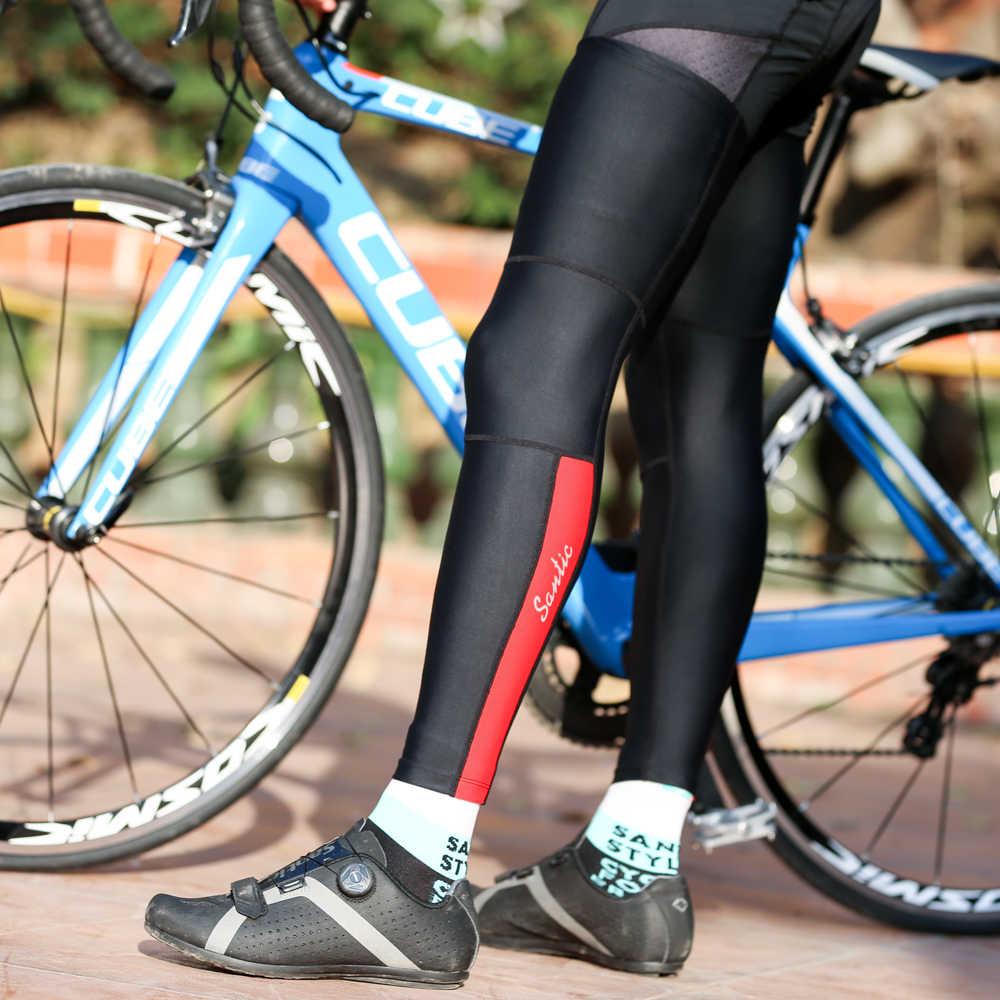 サンティックサイクリング脚アイス感覚乗馬膝パッド脚ロードバイク日焼け脚セット通気性シリコーンスリップ W9C09100