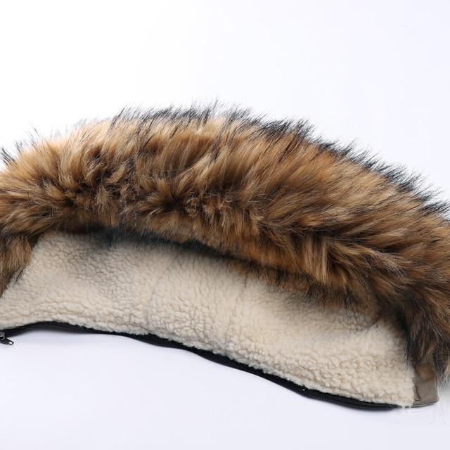 Куртка парка мужская со съёмным капюшоном тёплая подкладка мех на капюшоне 4