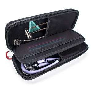Image 2 - الصلب إيفا المحمولة سماعة الطبيب حمل صندوق تخزين من الألومنيوم قذيفة حاويات شبكية ل 3M Littmann III سماعة الطبيب الطبية المنظم حقيبة