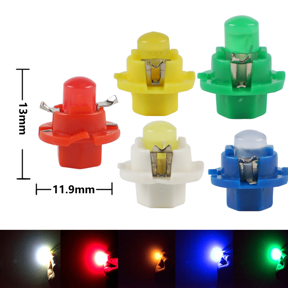 10pcs B8.4D LED Car Dashboard Light Side Lamp Pure White Light Color 6000-7000K Instruments Panel Light Bulbs Lamps