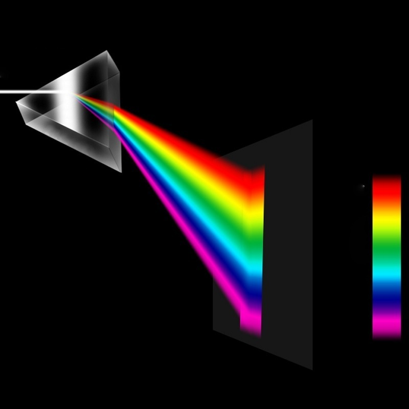 Triangular Prism Optical Glass Triple Physics Refractor Teaching Light Spectrum Educational Teaching 30x30x50mm Children Student