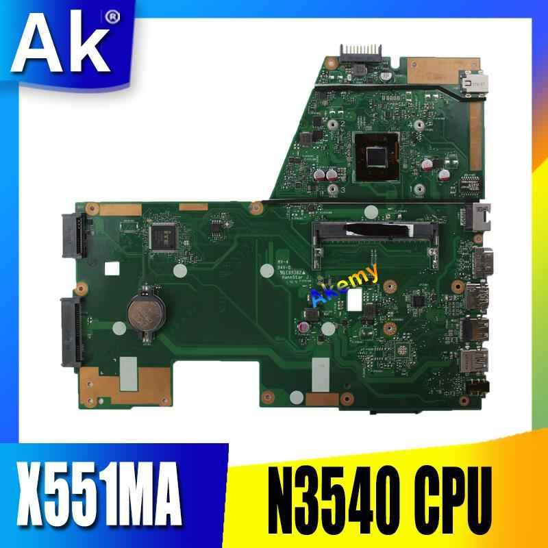 AK X551MA האם מחשב נייד עבור ASUS X551MA X551M X551 F551MA D550M מבחן מקורי mainboard N3540/3530 4 ליבות מעבד