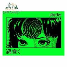 Earlfamily 13cm x 9.6cm para uzumaki cópia verde carro assessoroires adesivos decalque fino auto prancha oclusão zero estilo do carro