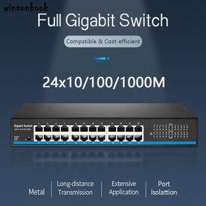 Image 1 - 24 נמל RJ45 Lan מתג Ethernet מתג Gigbit מתג עם 24 RJ45 יציאת gigabit מתג עבור ip מצלמה ap אלחוטי