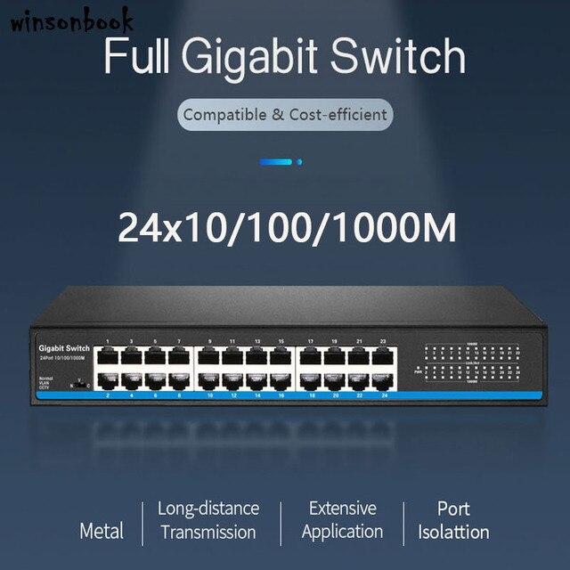 24 נמל RJ45 Lan מתג Ethernet מתג Gigbit מתג עם 24 RJ45 יציאת gigabit מתג עבור ip מצלמה ap אלחוטי