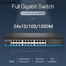 24 interruptor do gigabit do porto rj45 com 24 interruptor do gigabit do porto para a câmera ip ap sem fio