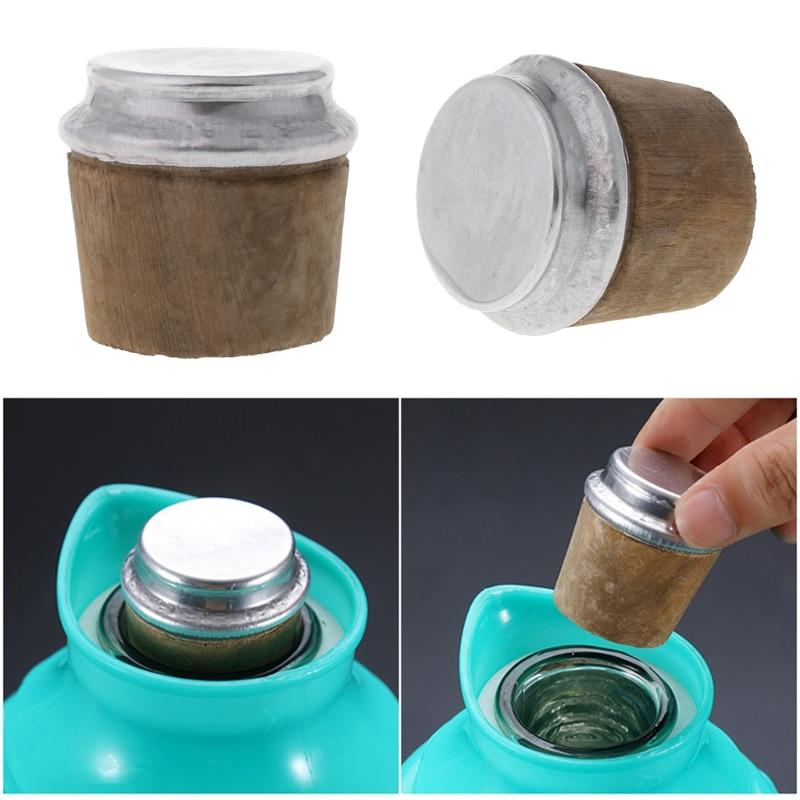 40mm Bottom Diameter Wood Thermos Bottle Cork Plug Lid Cap Stopper Kettle Parts
