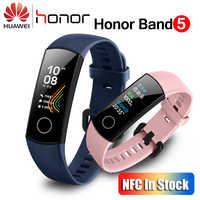 Huawei Honor Band 5 Mit NFC Smart Band Oximeter Farbe Bildschirm Schwimmen Schlaganfall Erkennen Herz Rate Schlaf Monitor Honor Band 5 blau Rosa