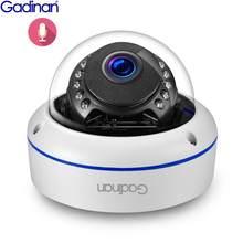 Onvif 2592x1944p 5mp 3mp 2mp segurança de metal ao ar livre dome câmera de vigilância ip 3mp 1080p 0.0001lux visão noturna e-mail alerta poe