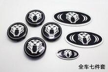 Tiger Tigris Car Hood Bonnet Front/Rear Trunk Steering Wheel Cap Badge Emblem stickers for KIA optima k5 Sportage Hyundai Sante
