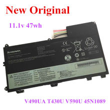 цена на New Original Laptop replacement Li-ion Battery for Lenovo V490U V490UA T430U V590U 45N1089 11.1v  47wh