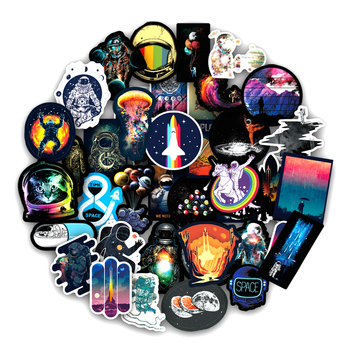 100Pcs/Set Outer Space Graffiti Stickers Astronaut For Luggage Motorcycle Laptop Refrigerator Toy Car Pvc Waterproof Sticker