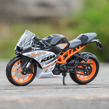 Motocicleta KTM RC 390, modelos fundidos, juguete para regalo, colección de aleación...