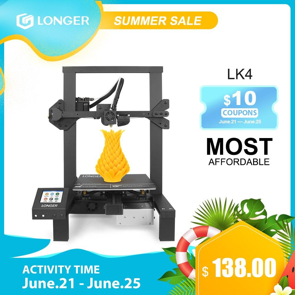 LONGER LK4 3D принтер сенсорный экран 3d printer с уникальной рамкой дизайн Resume печать безопасный источник питания 3D Принтер Комплект 3д принтер 3d при...