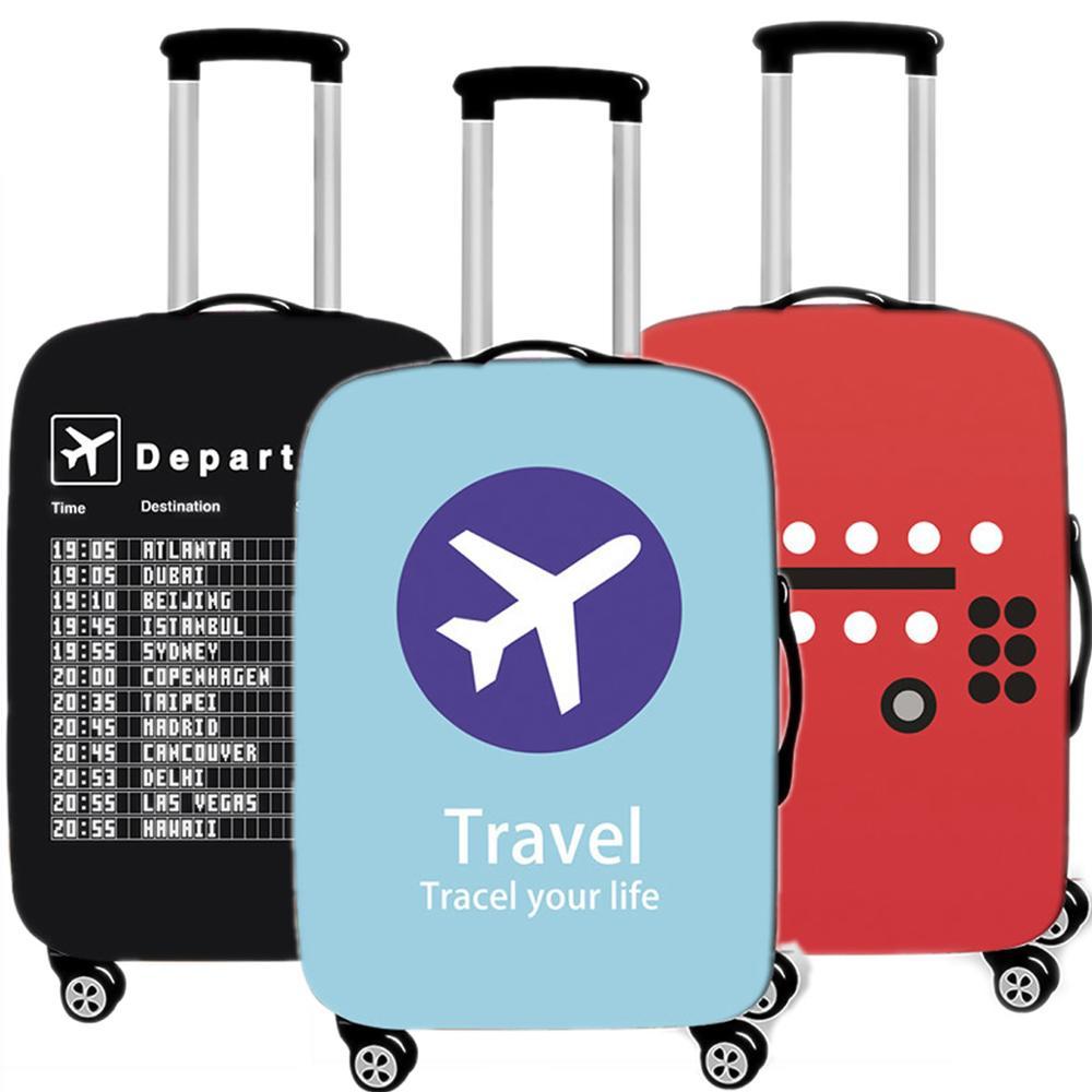 Reise Zubehör Kreative Flugzeug Gepäck Fall Schutzhülle Wasserdicht Verdicken Elastische Koffer Fall Gelten 18-32 Inch XL