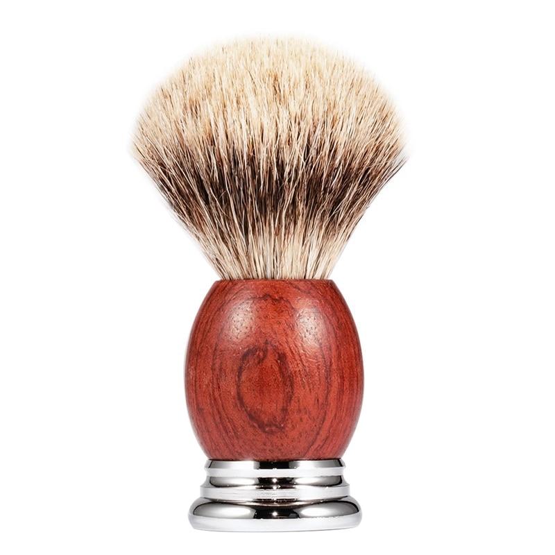 Мужская щетка для бритья, деревянная ручка для бритья волос, прибор для чистки бороды на лице, высококачественный салонный инструмент, безопасная бритва, щетка