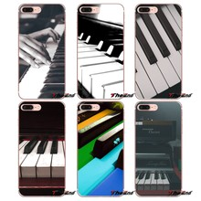 Mode Musik Klavier Weiche Silikon TPU Fall Für Samsung Galaxy S2 S3 S4 S5 MINI S6 S7 rand S8 S9 Plus Note 2 3 4 5 8 Coque Fundas(China)