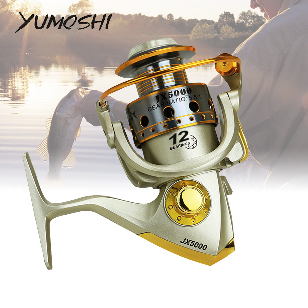 2020 New Spinning Fishing Reel Professional Fishing Coil Wooden Handshake 12+1 BB Metal Left/Right Hand Fishing Reel Wheels