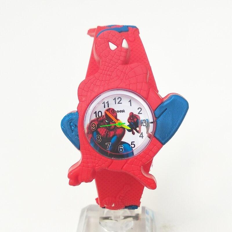 2019 Dropshipping Leisure Pentium Silicone Handsome Cartoon Watches Kids Boy Girl Clock Fashion Spiderman Children Digital Watch