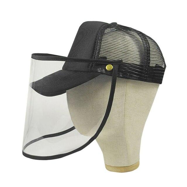 Brand New Transparent Anti Saliva Hat Splash Dust Proof Full Face Shield Anti-fog Anti-Virus Protection Mask 3