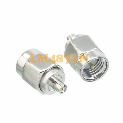 DHL/EMS 50 Pcs  Adapter SMA Male Plug To IPX U.fl Jack Female Connector Straight F/M Nickel -d2