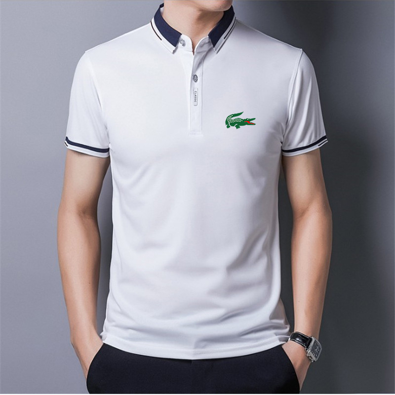 New polo shirt short-sleeved summer handsome shirt tide brand fashion men's polo shirt men's top clothes