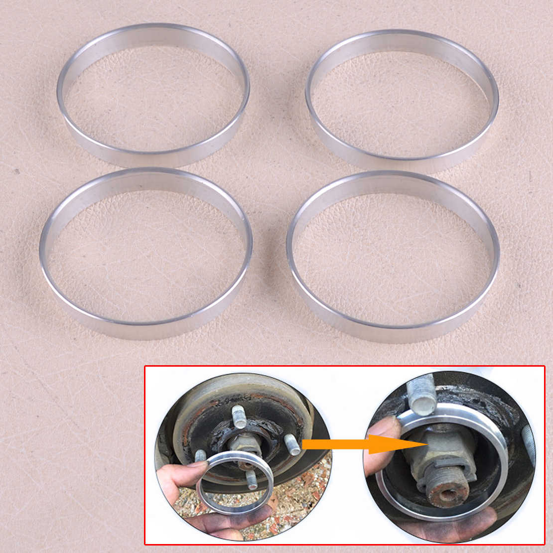 Aluminium Alloy-4 Pcs Wheel Hub Centric Rings OD= 73.1 mm ID= 61.6 mm