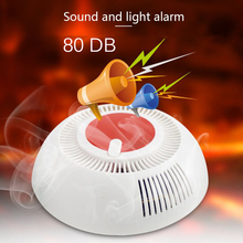Independent Smoke Fire Alarm Home Security Wireless Smoke Detector Alarm sound and light alarm 80 DB