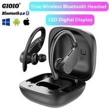 Écouteurs sans fil Bluetooth B11 TWS, oreillettes de musique, affichage diagonal LED, oreillettes de jeu, pour Iphone Huawei Xiaomi, casque de Sport