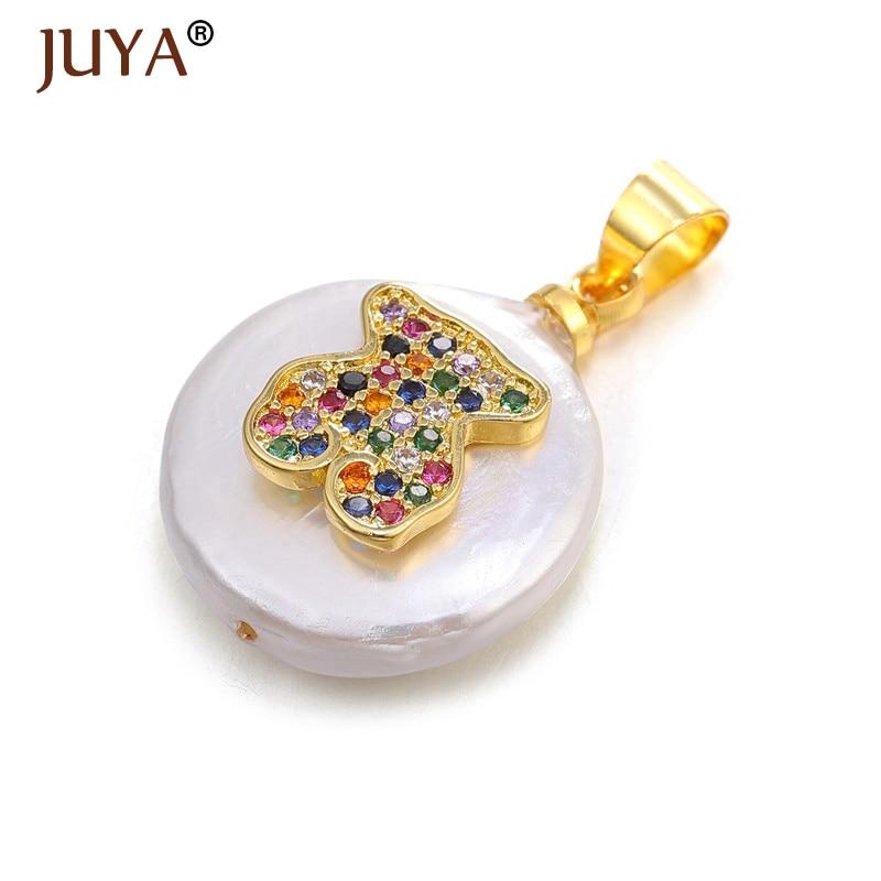 JUYA новые аксессуары кулон с жемчужной раковиной модные подвески в форме сердца для изготовления ювелирных изделий Dly - Окраска металла: as show