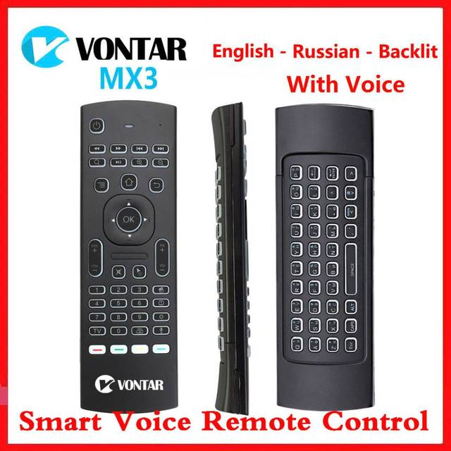 Ratón inalámbrico MX3 Air Mouse, Control remoto por voz, retroiluminado, 2,4G MX3 Pro Teclado inalámbrico, aprendizaje IR para Vontar TV BOX X3 H96 X96 MAX