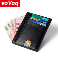 Hot Men Credit Card Holder RFID Blocking Men Wallet Automatic Hasp Male Purse Leather Bank Card Wallets Business ID Card Holder men women leather credit card holder case card holder wallet business card female wallet purse luxury clutch wallets