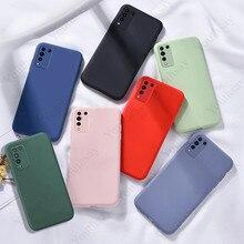 Para honra 10x lite caso para huawei honor 10x lite 9x premium 20e 30 pro plus 30s 30i capa do telefone caso de silicone líquido original