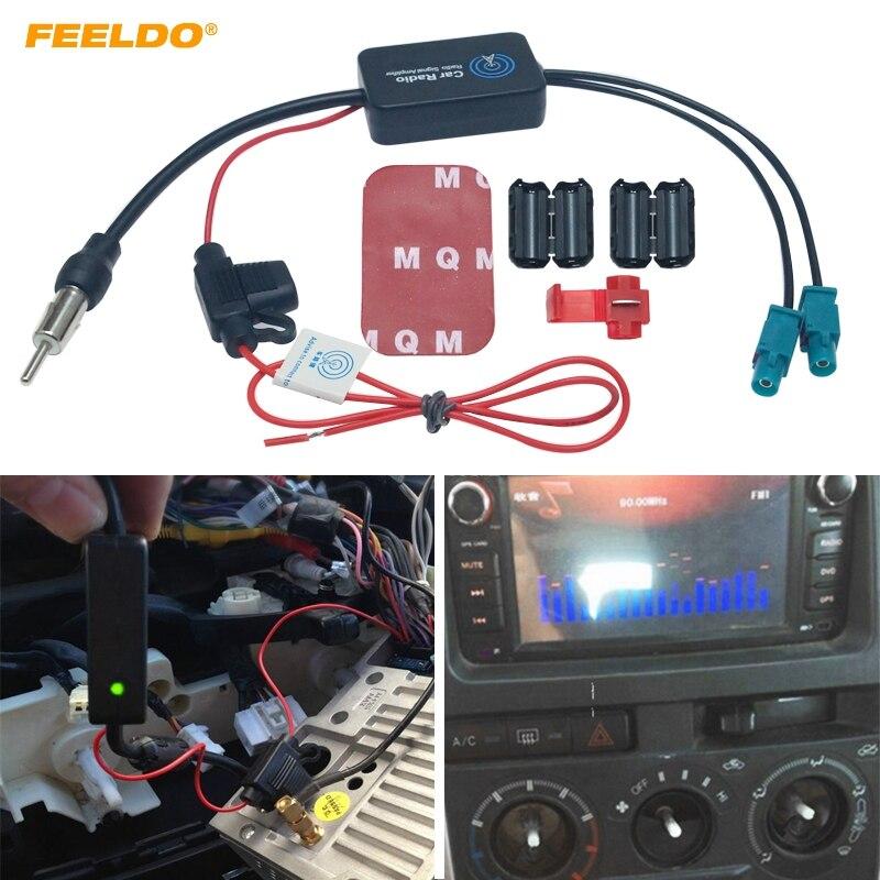 Автомагнитола FEELDO 12 В, усилитель сигнала с антенной FM/AM Для Audi, Volkswagen, FAKRA II, 1 шт.