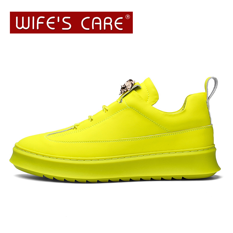 High quality PU Leather casual shoes Thick bottom sneakers Men Comfortable Walking chaussure homme Men's Shoes