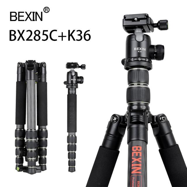 BX285C treppiede in fibra di carbonio portatile leggero treppiede da viaggio fotocamera treppiede pieghevole treppiede per fotocamera dslr