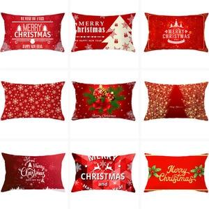 Christmas Cushion Cover 30X50 Pillowcase Elk Tree printed Decorative Pillows Sofa Cushions Home Decor Pillow Cases
