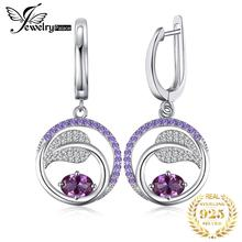 Created Alexandrite Sapphire Drop Earrings 925 Sterling Silver For Women Gemstone Korean Fashion Jewelry 2020
