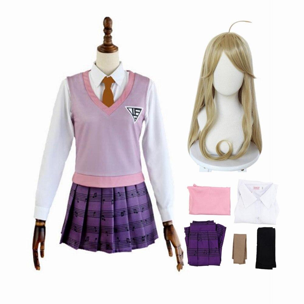 Game Danganronpa V3 Akamatsu Kaede Cosplay Costume Anime Women JK School Uniform Vetement Manga