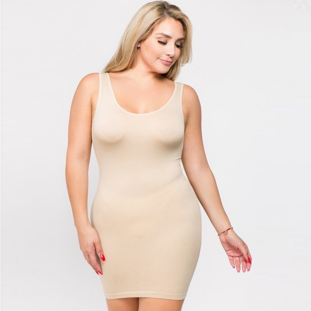 Plus Size Dresses For Women 4xl 5xl 6xl Party Bodycon Dress Elegant Midi O-neck Solid Color Sleeveless Sexy Dress Women Club#g6 3