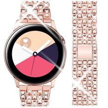 Bracelet pour montre Samsung Galaxy active 2, 20MM, 22MM, 40mm, 44mm, 42mm, 46mm, Gear s3, acier inoxydable, boucle, 20mm, 22mm